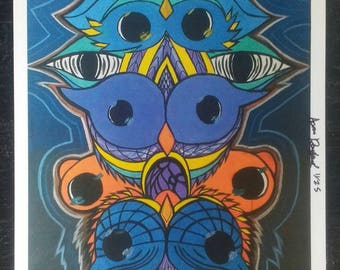 "Art print ""OwlTotem"" 11x17 le/25"