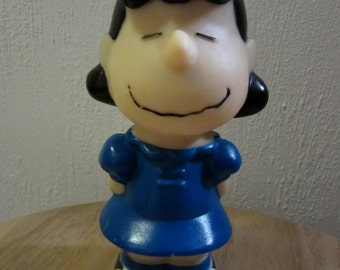 Lucy Squeak Toy, Peanuts Lucy Squeak Toy, Lucy, Lucy Toy 1966, Lucy Van Pelt, Lucy Peanuts Gang Toy,