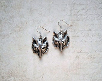 Earrings Silver Fox
