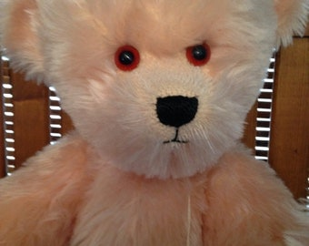 Vintage Teddy  Mohair Glass Eyes  1991 Pappa Pinkerton  Limited Edition Lillibet TRANSATLANTIC TEDDIES  Liz Carless