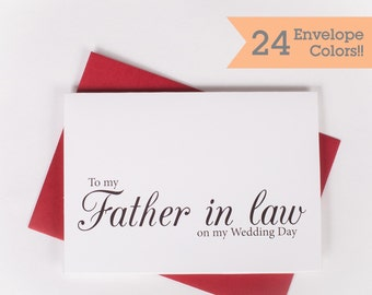 To my Father in law Card, To My Father In Law on My Wedding Day Card (WC072-CL)