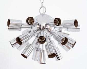 sputnik pendant light, 1960 sputnik light, sputnik light, modern pendant light, modern midcentury light, modern light, chrome light, sputnik