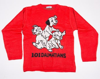 Vintage 90s 101 dálmatas dibujos animados Disney Sweater Jumper