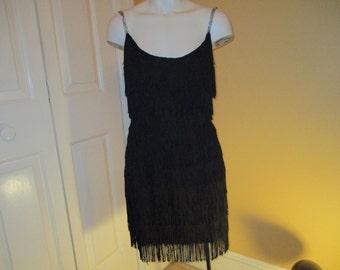 Vintage fringed flapper style dress