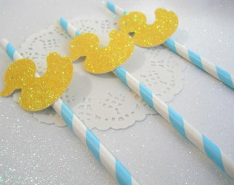 Ducky Baby Shower Decorations, Ducky Party Decorations, Ducky Straws, Duck  Straws, Duck