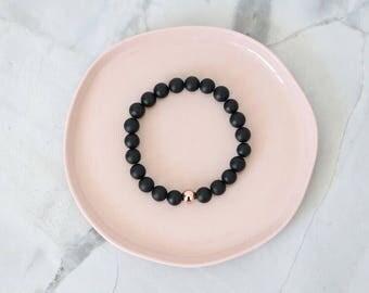 Black & Rose Gold Bracelet