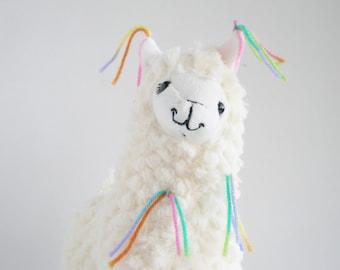 Llama Plush - Little Llama - Decorated llama - softie llama - cute llama - soft llama - llama plushie - plush farm animal - llama gift
