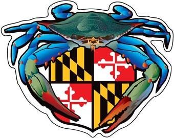 Maryland Blue Crab Crest Sticker