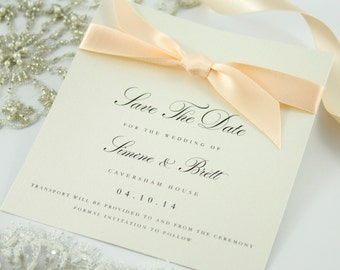 Ribbon Save The Date Cards