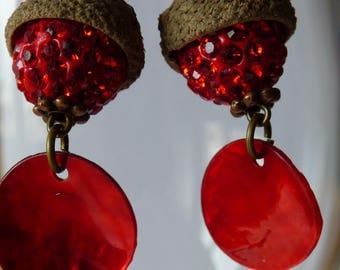Summer red earrings - Made in FRANCE