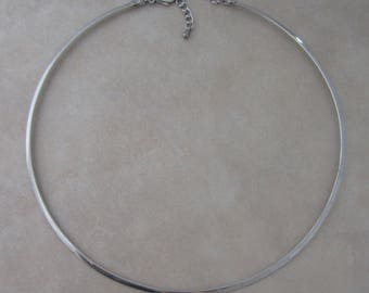 1 stainless steel neckwire with extender