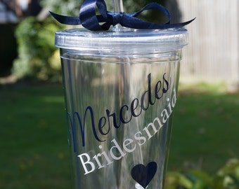 Custom drink tumbler, Custom party cup, Bachelorette or hen party cup, teacher appreciation cup