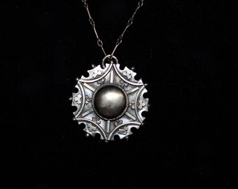 Sterling Silver Mourning Necklace