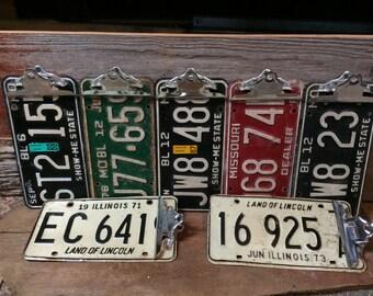Antique License Plate Clipboard