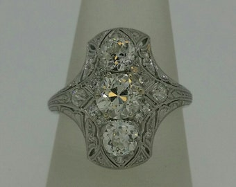 Platinum Diamond Filigee Ring