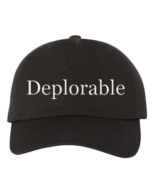 b73b7d0d69e0a DEPLORABLE Baseball Hat Low Profile Embroidered Baseball Caps