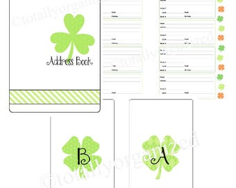 Sweet Shamrocks Address Book - Spiral Bound