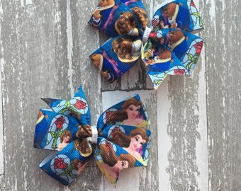 Beauty and the Beast Bow - Beauty and the Beast Hair Bow - Beauty and the Beast Shirt - Beauty and the Beast Bow - Belle Bow - Belle hair bo