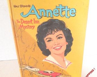 """Walt Disney Annette Funicello """"The Desert Inn Mystery"""" Vintage 1961 Hardcover"""