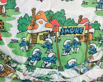 Vintage Smurf Twin Fitted Sheet