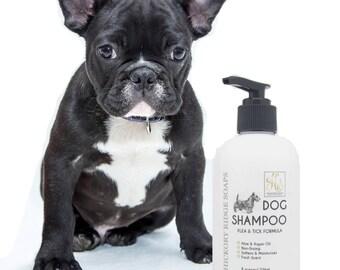 Flea & Tick Dog Shampoo with Aloe and Argan Oil - Dog Shampoo, Flea Shampoo, Flea Repellent, Tick Repellent, Handmade Soap, Dog Soap