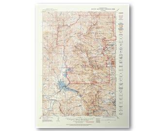 Rocky Mountain National Park 1915 USGS Topo Map