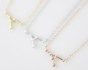 Rose Gold Cancer Constellation Necklace Cancer Necklace Zodiac necklace Zodiac Jewelry Constellation Jewelry