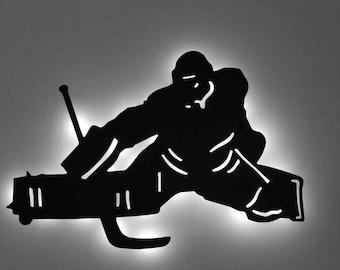 LED Backlit Hockey Goalie