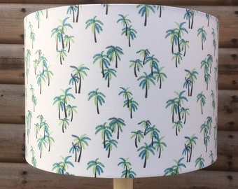Palm Trees Fabric Lampshade.