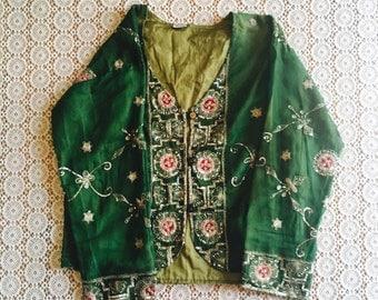 dreamweaver blouse/beaded blouse/folk blouse/boho 70's indian blouse/bohemian blouse/ethnic/indie blouse/hippie blouse/boho hippie top/s/m