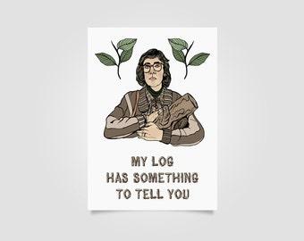 Twin Peaks The Log Lady Art Print // twin peaks art, david lynch, wall art, log lady print
