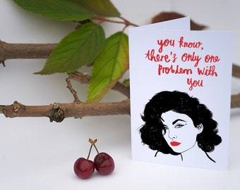 Twin Peaks Valentine's Day Card, audrey horne, twin peaks return, david lynch, galentines, greeting card