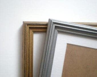 gold wall frame 13x19 silver poster frame picture frame 33x48cm frame shabby chic distressed frame rustic wood craft frame solidwoodshop