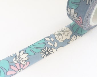 Tropical Flowers Washi Tape 15mm x 10m