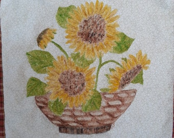 Quilted Sunflowers