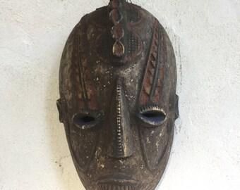 Former African mask Nigeria tribal Okoro Yoroba