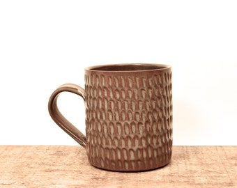 Super Awesome Textured Mug. Handmade ceramic goodness. Best mug ever. IN STOCK