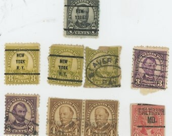 Over 90 Year old U. S. Stamps, USED in fair to good condition, Brookman  #555, #559, #560, #561, #685.  1919-22 1553a