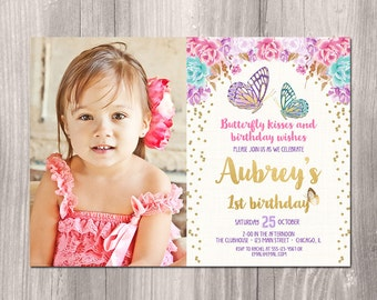 Butterfly Birthday Party Invitation Butterfly Party - Butterfly birthday invitation images