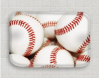 Baseball Bath Mat Microfiber Mat Memory Foam Mat Kitchen Mat Baseball Decor