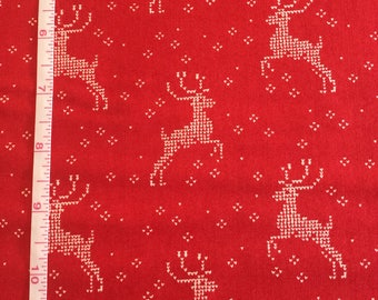 Nordic Stitches by Wenche Wolff Hatling of Northern Quilts for Moda Fabrics in Red