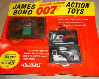 1965 James Bond 007 Action Toy by Gilbert.