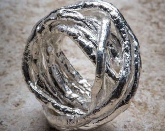 Nest ring in silver