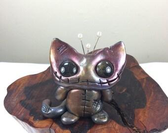 OOAK polymer clay Voodoo Kitty