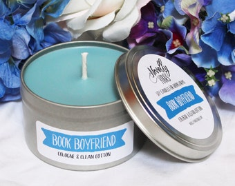 Book Boyfriend | 8oz tin | Book Candle, Bookish Soy Candle