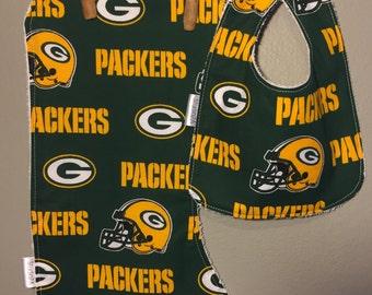 Green Bay Packers Baby Bub, Burp Cloth Set
