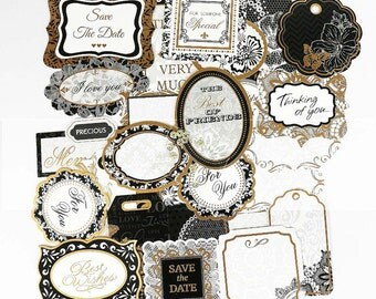 Special Event Tags Scrapbooking Die Cuts Craft Supplies Tags Gold Special Occasion Embelllishments
