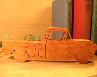1/2 Ton Pick Up Truck From The Golden Days Wooden Puzzle #382