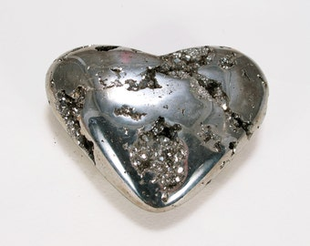 GOLDEN PYRITE Heart Crystal 90 mm #M234 - PERU