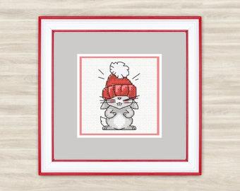 Cute Rabbit Counted Cross Stitch Kit / PDF Files - Rabbit 1